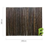 Zwarte bamboemat 200 x 250