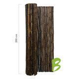 Zwarte bamboemat op rol 200 x 250