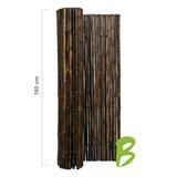 Zwarte bamboemat op rol 180 x 180