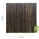 Zwarte bamboemat 180 x 180