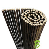 Zwarte bamboemat op rol 150 x 250