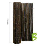 Zwarte bamboemat 150 x 250 kopen