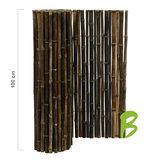 Zwarte bamboemat op rol 100 x 250
