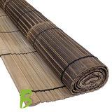 Bamboe rolgordijn 200 x 200 zwart