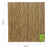 Dikke bamboemat 200 x 180