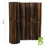 Dikke bamboemat zwart op rol 100 x 180