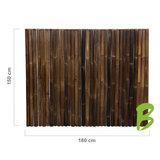 Dikke bamboemat zwart 150 x 180