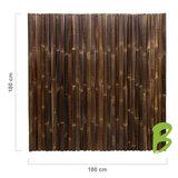 Dikke bamboemat zwart 180 x 180