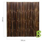 Dikke bamboemat zwart 200 x 180