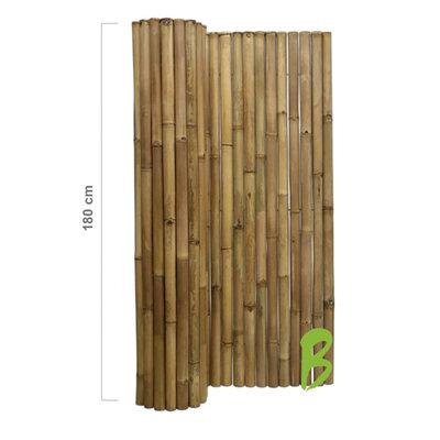 Dikke bamboemat 180 x 180 naturel