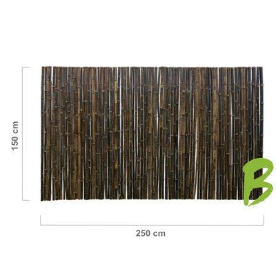 Zwarte Bamboemat 150 x 250
