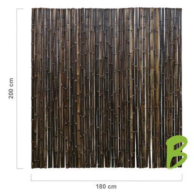 Zwarte Bamboemat 200 x 180