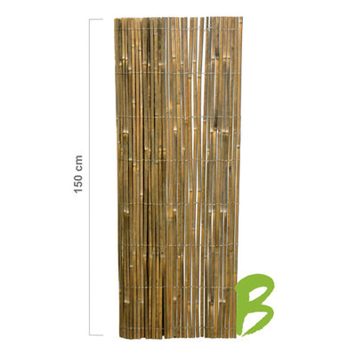Gespleten Bamboemat 150 x 500
