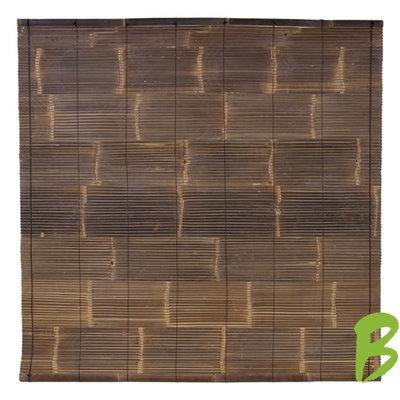 Zwart Bamboe Rolgordijn 200 x 200 cm