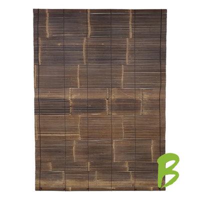Zwart Bamboe Rolgordijn 150 x 200 cm