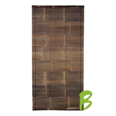 Zwart Bamboe Rolgordijn 100 x 200 cm
