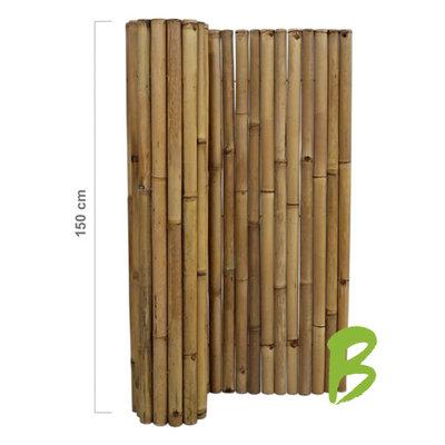 Dikke bamboemat 150 x 180 naturel
