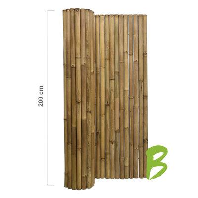 Dikke bamboemat 200 x 180 naturel