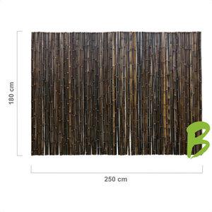 Zwarte bamboemat 180 x 250