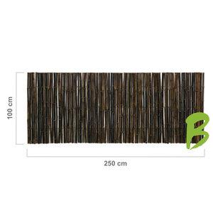 Zwarte bamboemat 100 x 250
