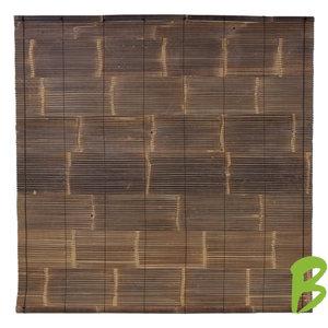 Bamboe rolgordijn zwart 200 x 200