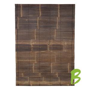 Bamboe rolgordijn zwart 150 x 150