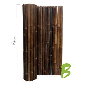 Dikke bamboemat zwart op rol 150 x 180