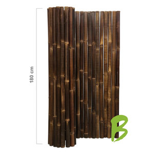 Dikke bamboemat zwart op rol 180 x 180