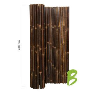 Dikke bamboemat 200 x 180 zwart op rol